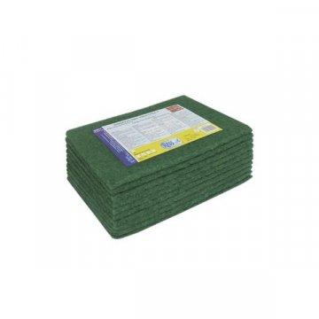 Pack 240 Estropajos Fibra Verde Cortados. Medidas 19x16CM.