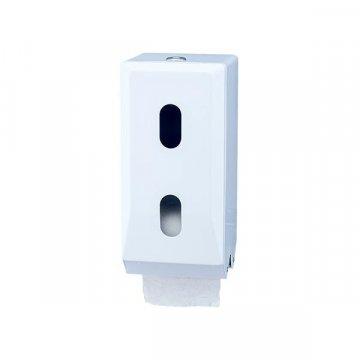 Dispensador Papel Higiénico Doble. Color Blanco. 12x25x12CM.